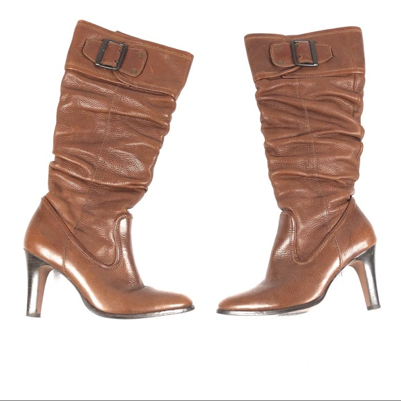 dca598b1e Matisse Shoes   Boots 6 Brown Slouchy Buckles Knee High   Poshmark